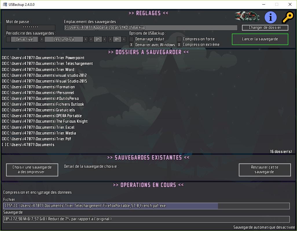 USBackup 2.5.0.0